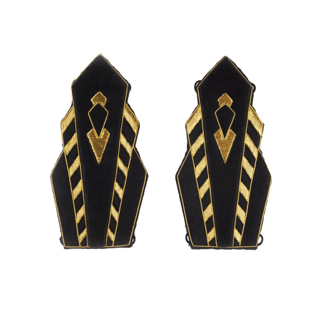 paire d'épaulettes Colette aimantées brodées à la main