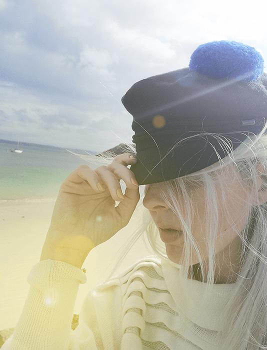 pompon marin bleu aimanté